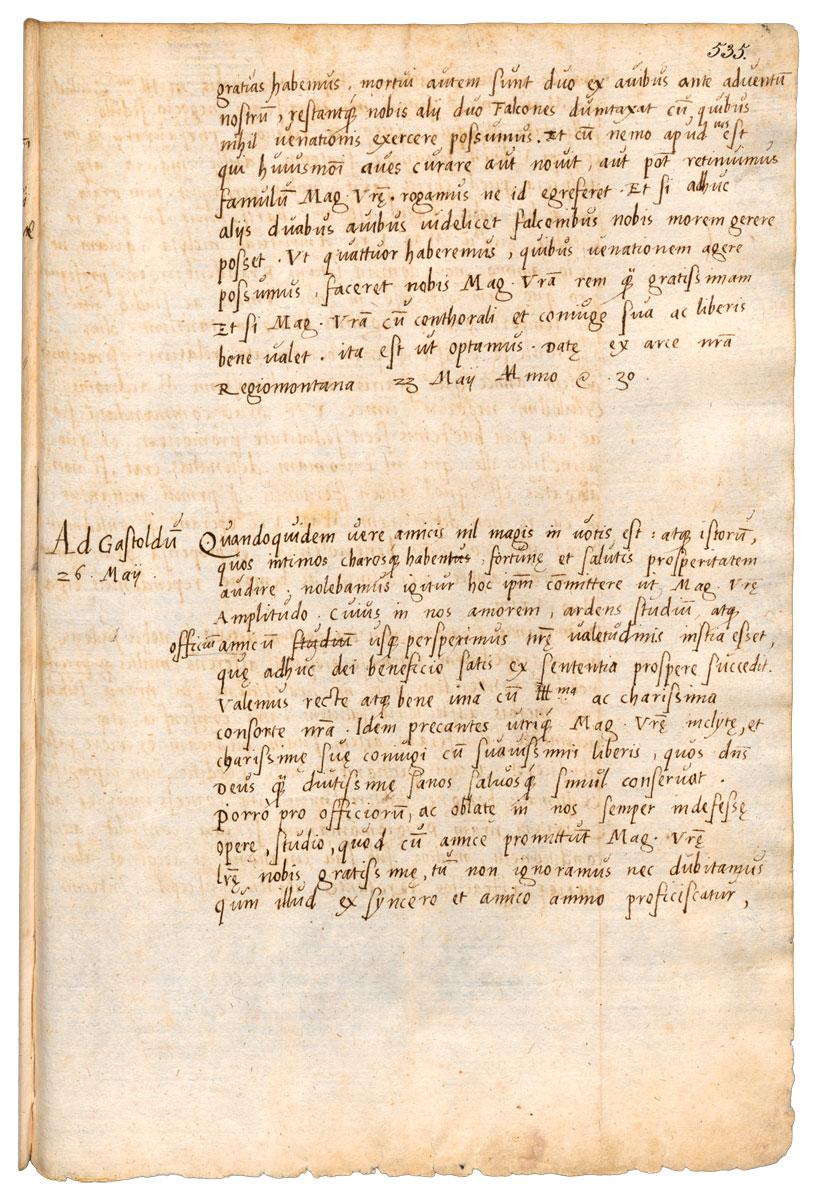 Albrechto Brandenburgiečio 1530 V 26 raštas Albertui Goštautui, kuriuo jis Vilniaus vaivadai skundžia Pranciškų Skoriną. Nuorašas. GSta PK, XX HASTA Königsberg, Ostpreußische Foliant 48