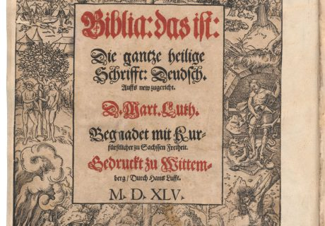 Antraštinis Martino Lutherio į vokiečių kalbą išverstos Biblijos lapas. 1545. LMAVB